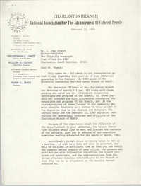Letter from Russell Brown to J. John French, February 15, 1983