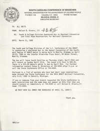 South Carolina Conference of Branches of the NAACP Memorandum, March 31, 1989