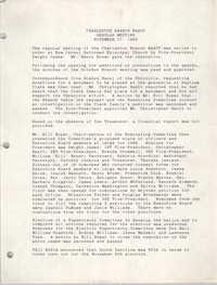 Minutes, Charleston Branch of the NAACP Executive Board Meeting, November 17, 1988