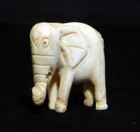 Ivory elephant carving