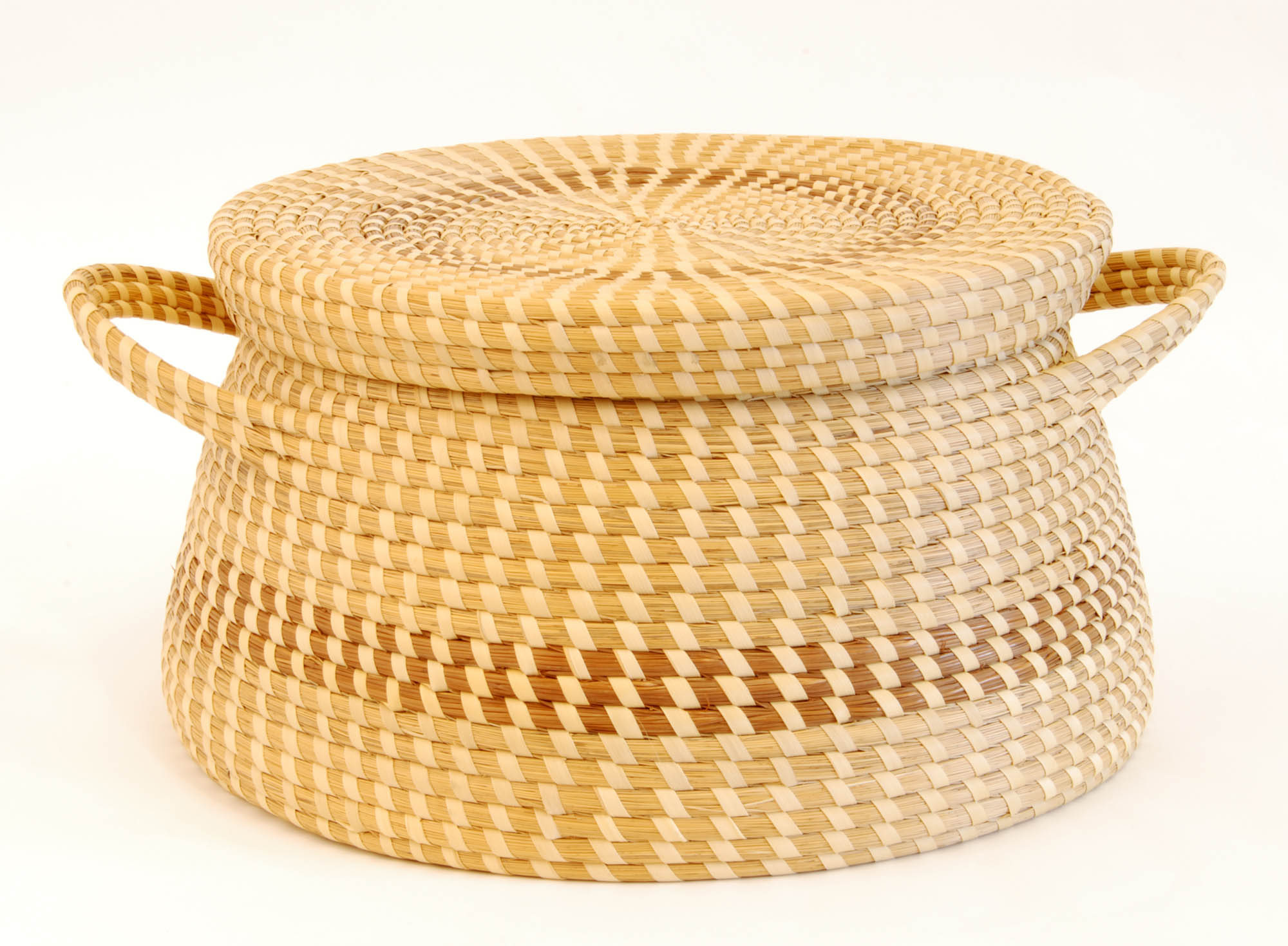 Traditional sweetgrass grain storage box