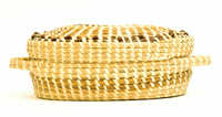 Sweetgrass sewing basket with handles