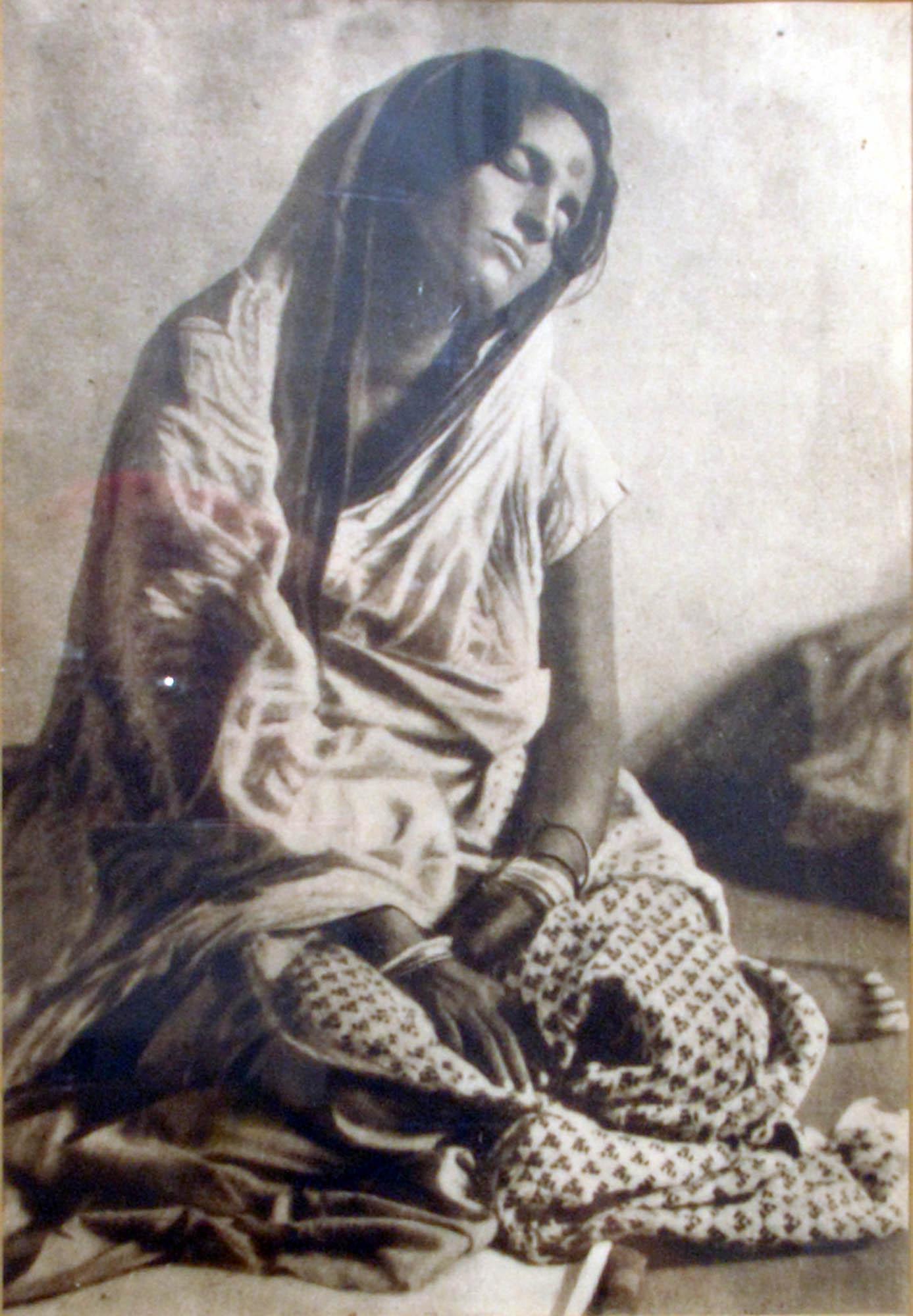 Framed image of Sri Anandamayi Ma