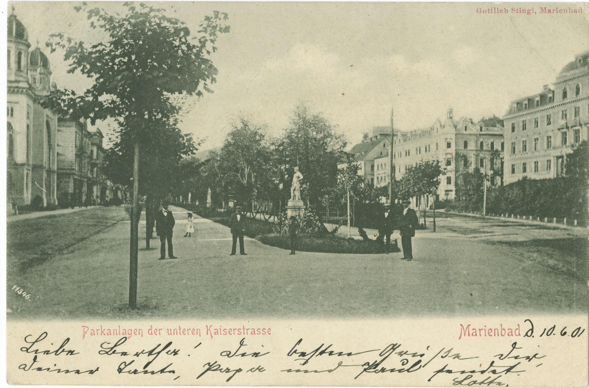 Parkanlagen der unteren Kaiserstrasse. Marienbad.