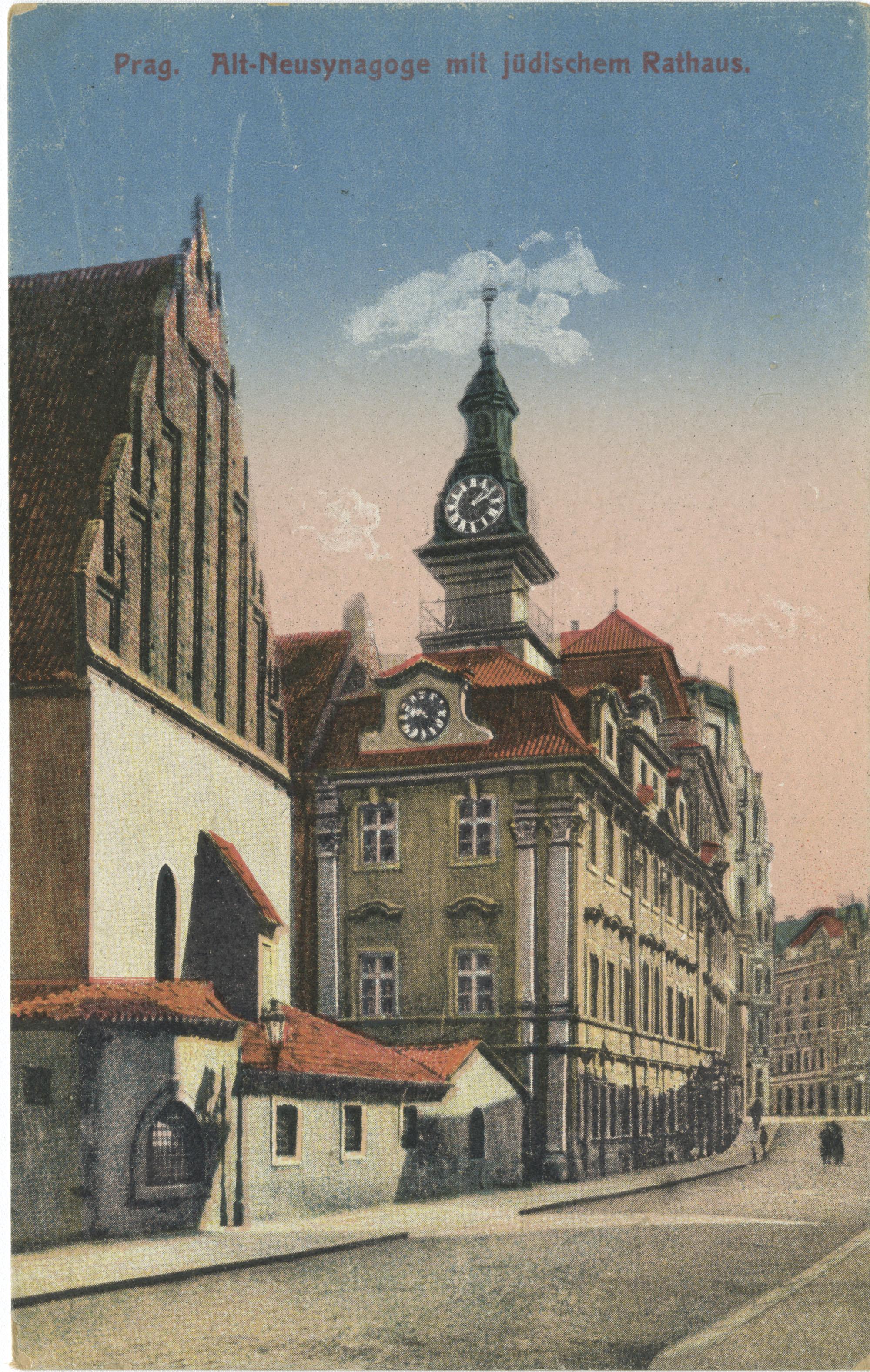 Prag. Alt-Neusynagoge mit jüdischem Rathaus.