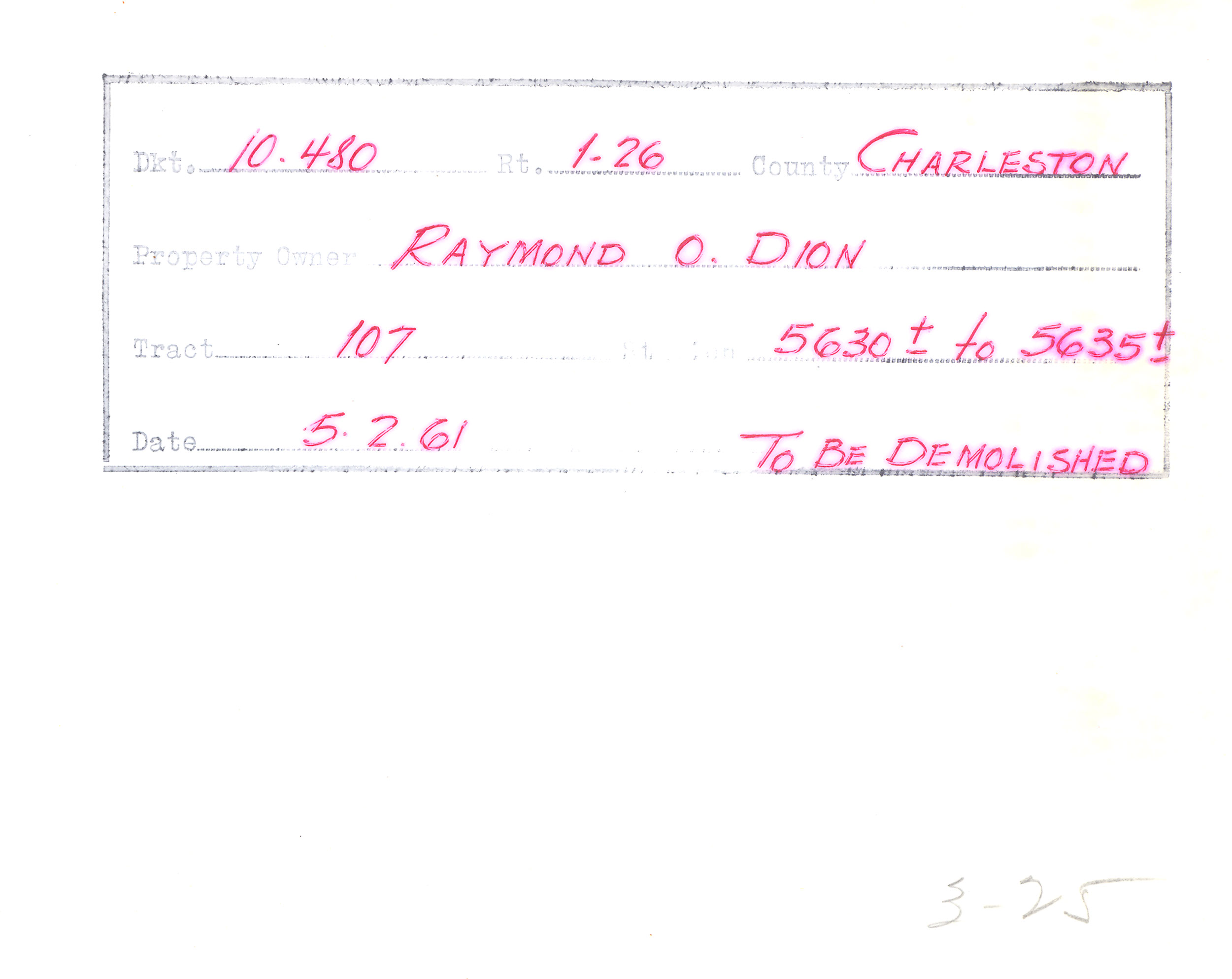 Example of Surveyor Notes 4