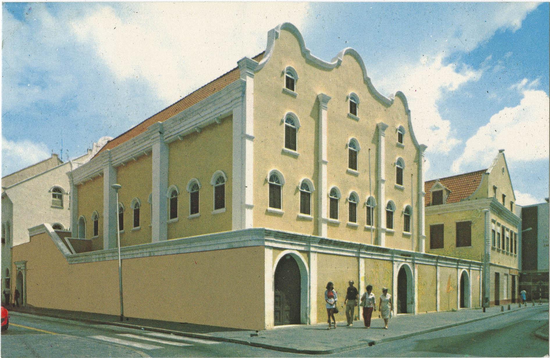 Curacao, Netherlands Antilles. Synagogue Mikve Israel-Emanuel - dedicated in 1732 - oldest in the Western Hemisphere.