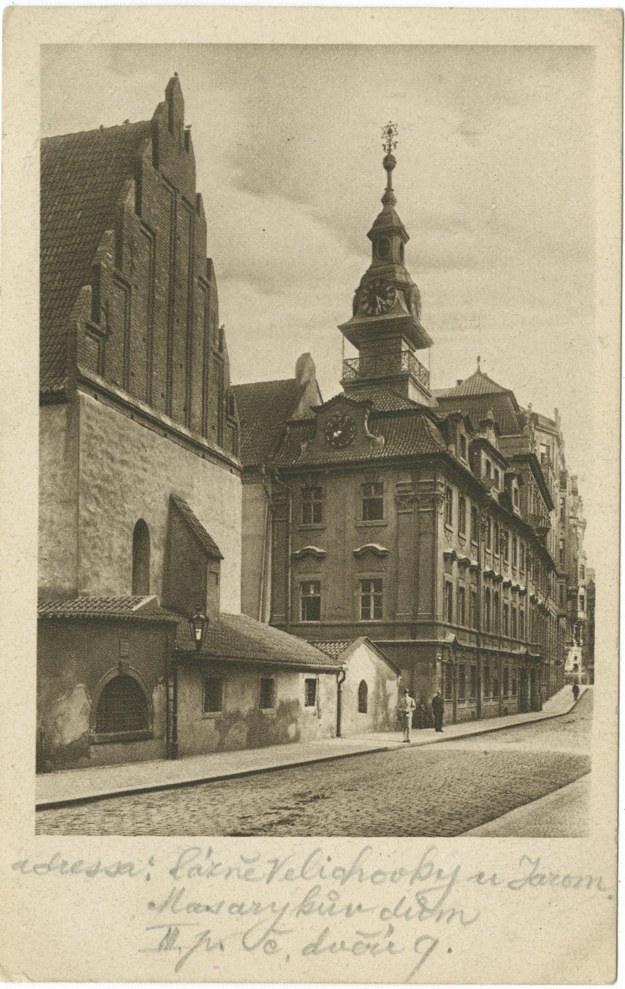 Praha : Staronová synagoga. (Bývalé Gheto.)