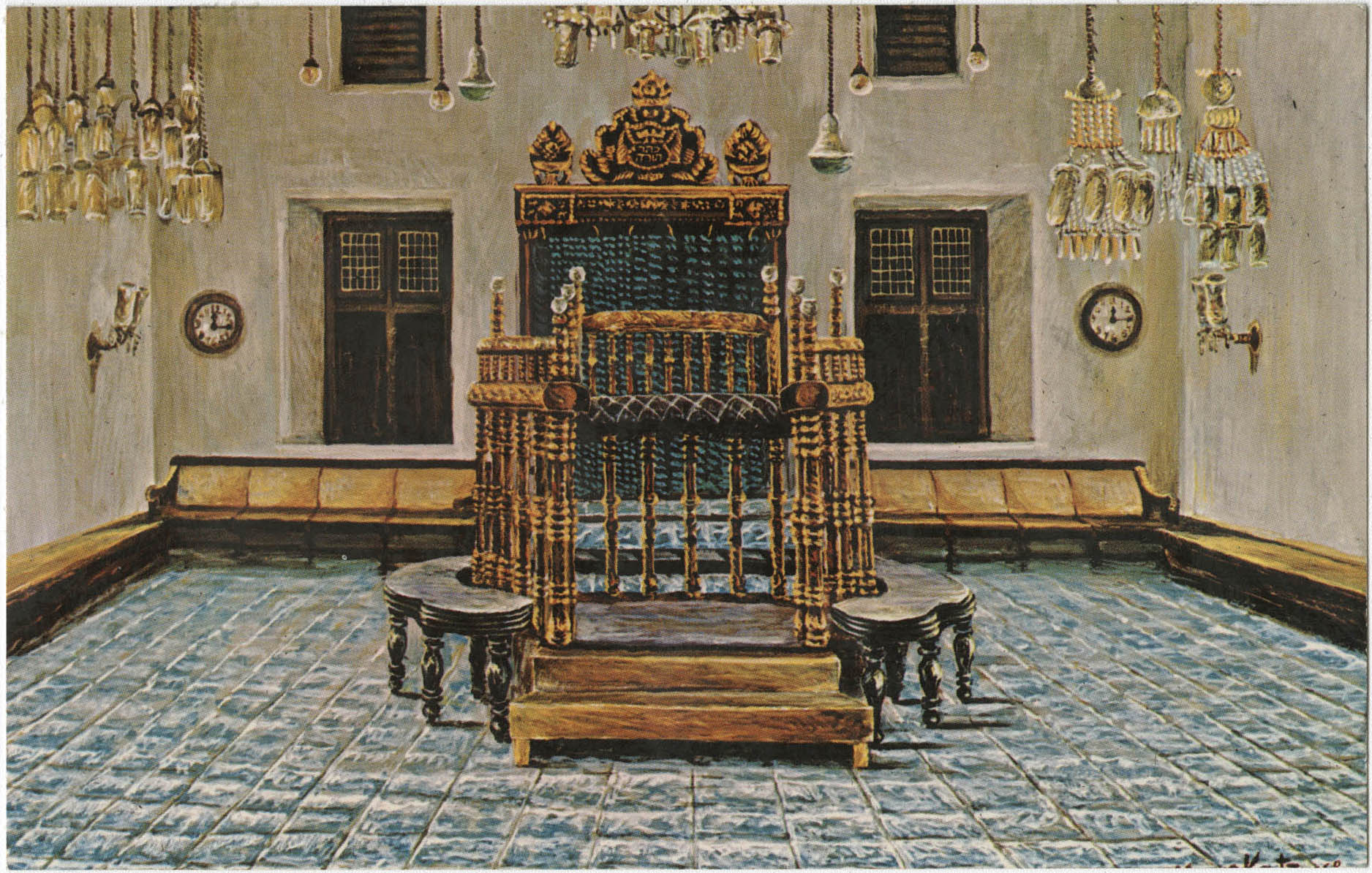 Paradesi Synagogue located in
