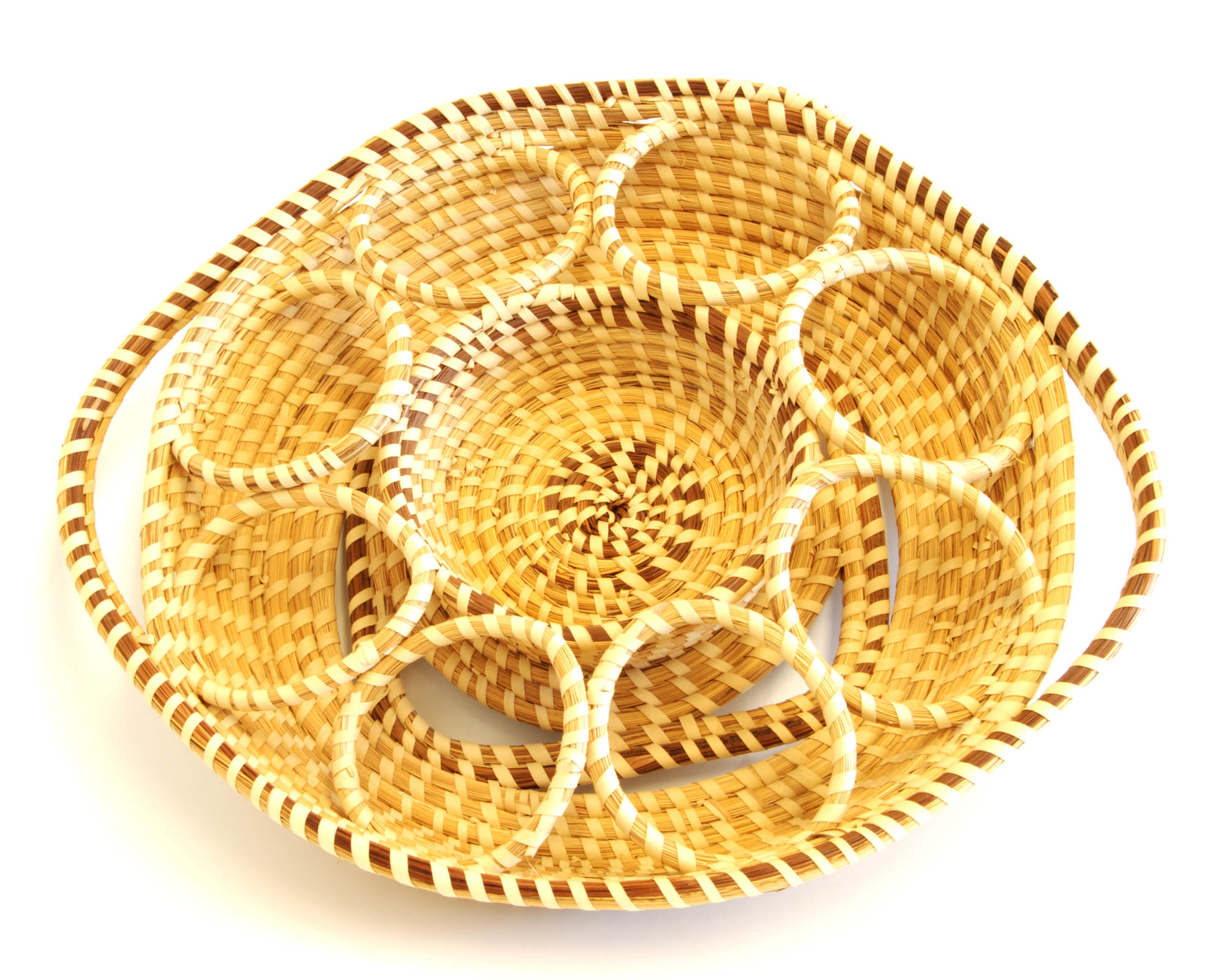 Sweetgrass glass server (Ring tray)