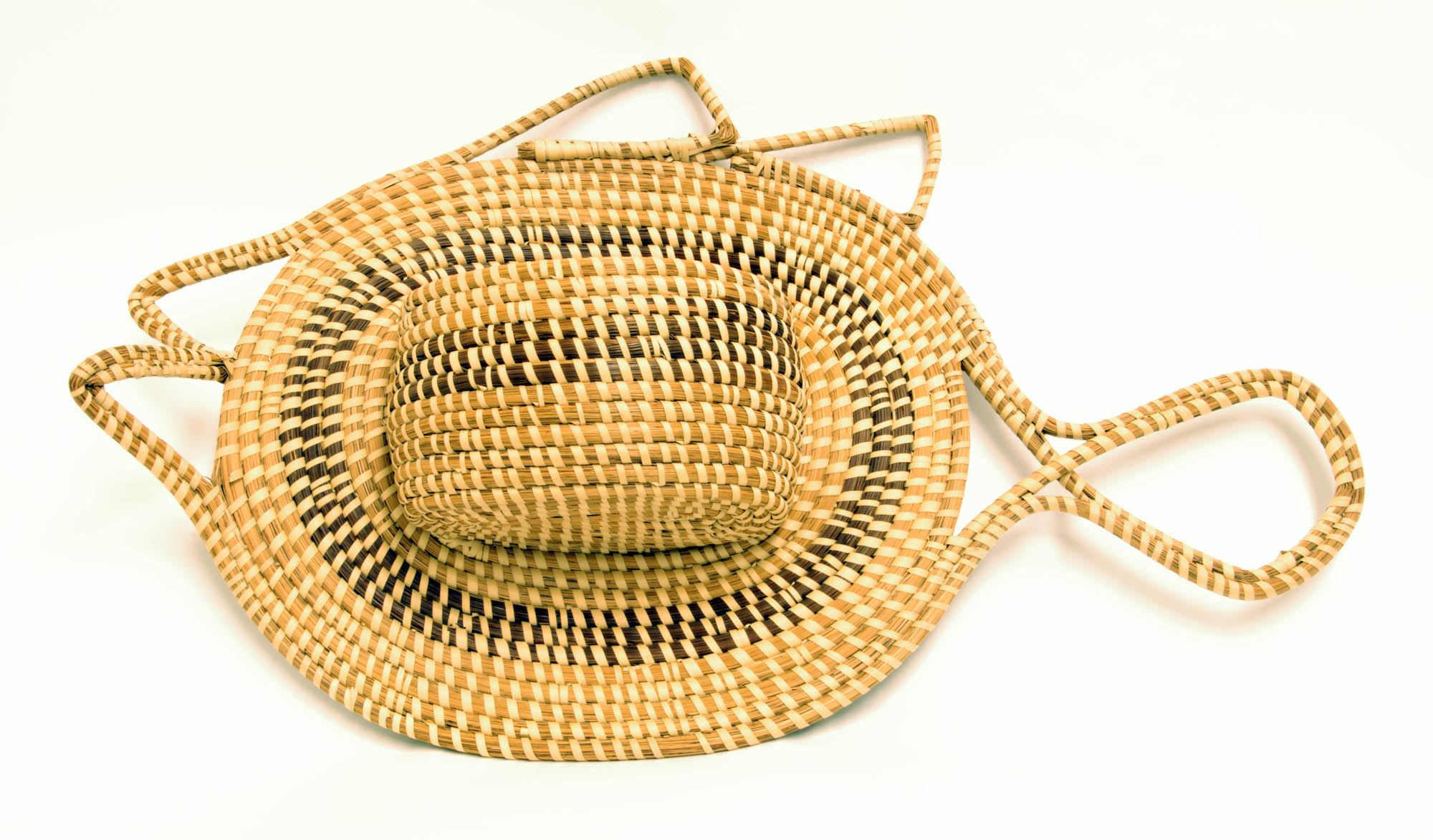 Decorative sweetgrass wall pocket (Fish)