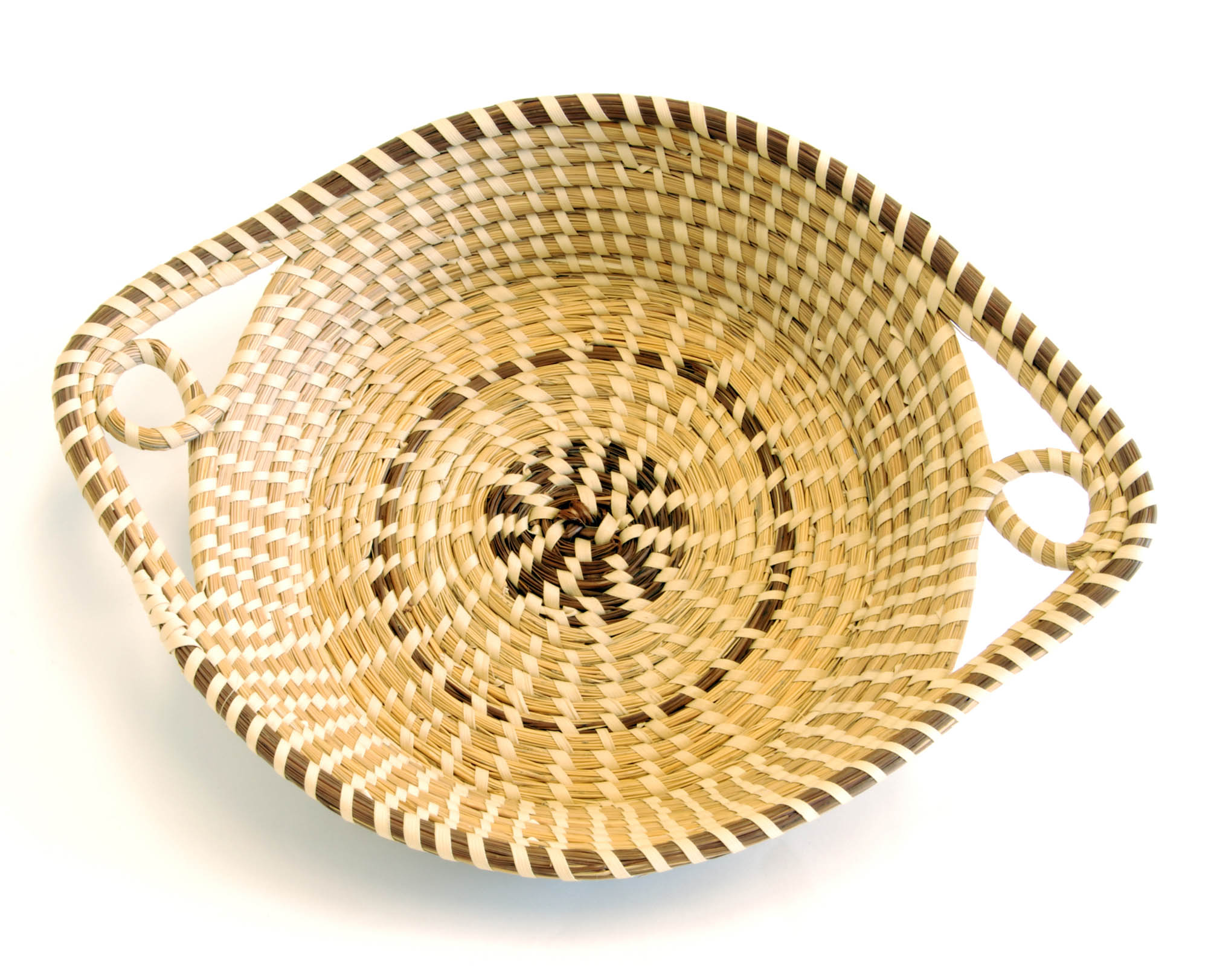Sweetgrass basket with handles (Tray)
