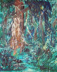 Ituri Rainforest painting