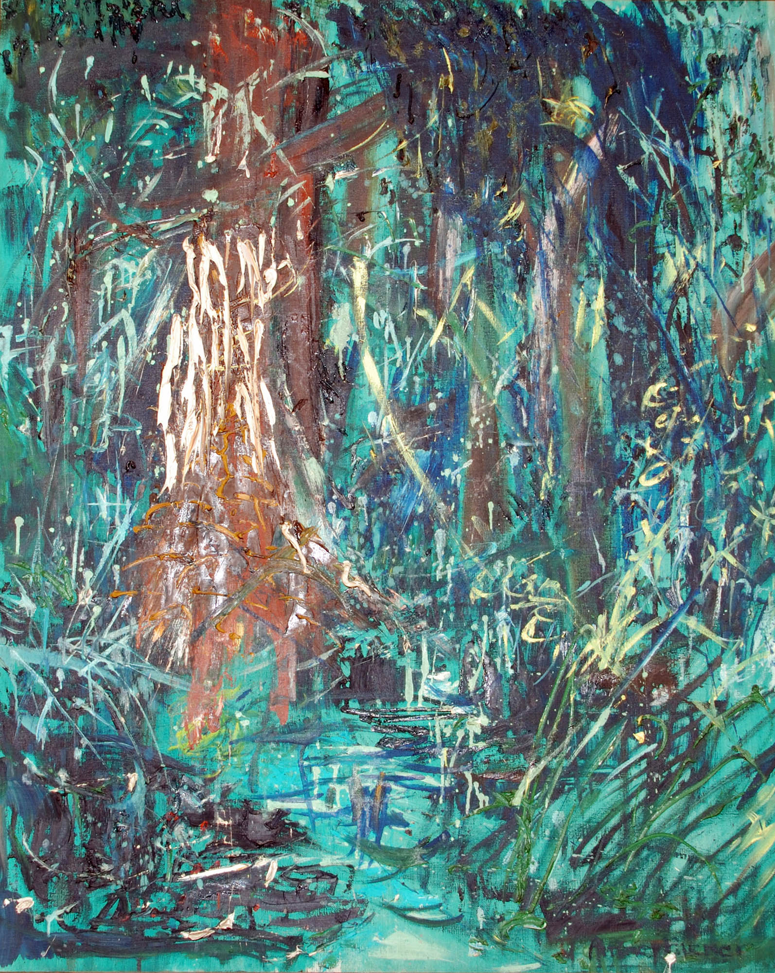 Ituri Rainforest painting