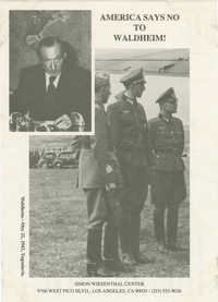 America Says No to Waldheim!