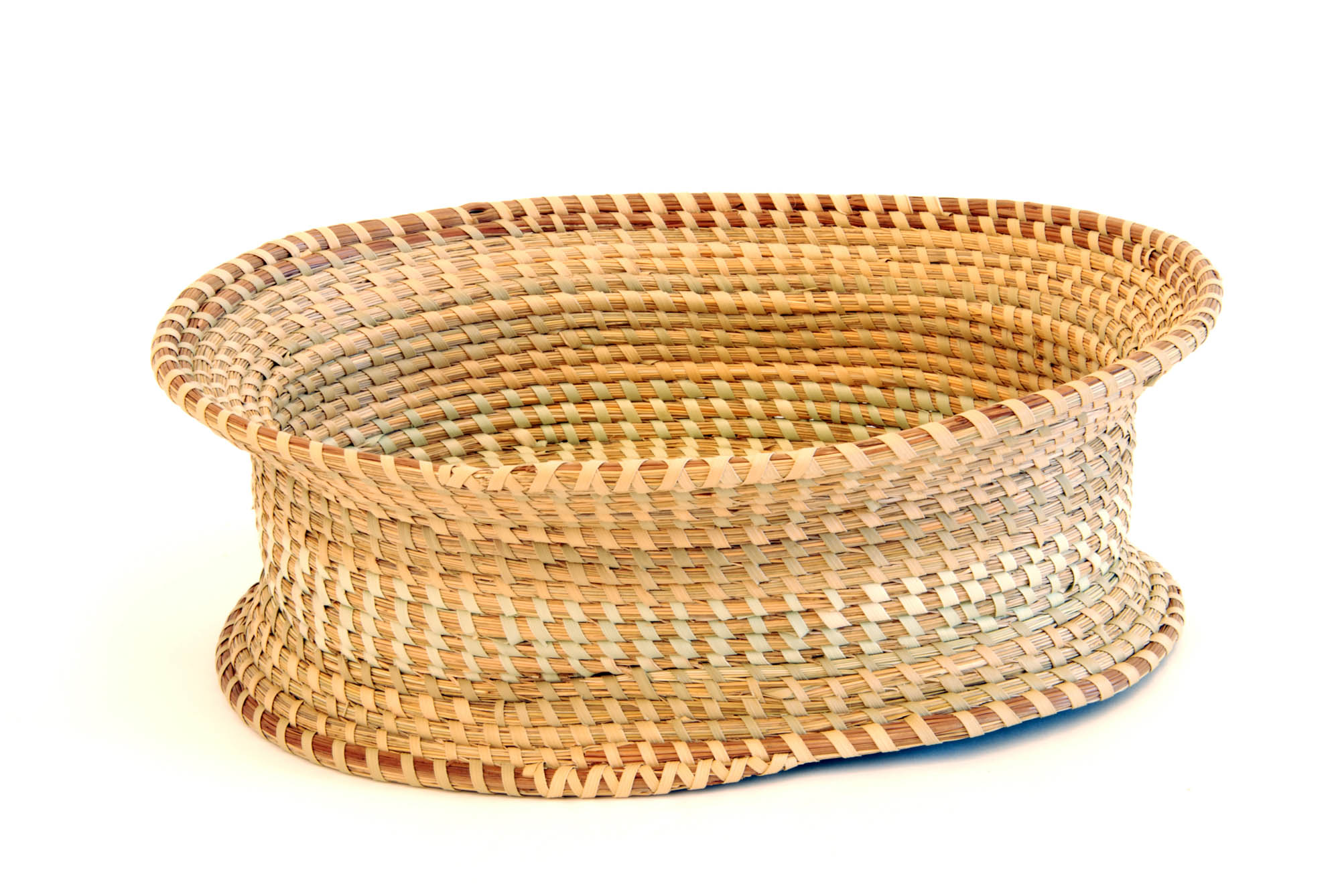 Oblong sweetgrass basket