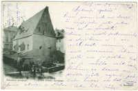 Praha. Staronová synagoga / Prag. Die Altneue Synagoge.
