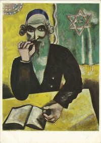 Marc Chagall (* 1887). Rabbiner / Rabbin / Rabbi