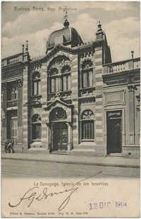 Buenos Aires, Rep. Argentina. La Synagoga, Iglesia de los Israelitas.