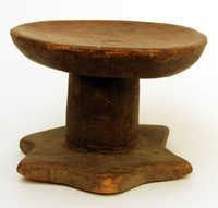Wooden nkumbi stool