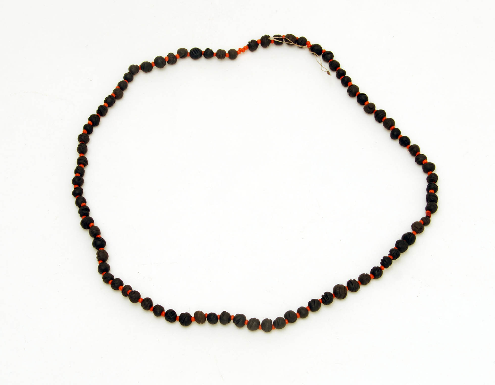 Clay and seed bead necklace