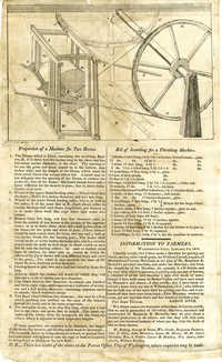 Bernard's patent threshing machine