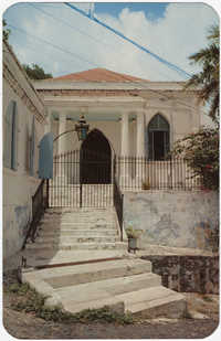 The Saint Thomas Synagogue, built in 1830, replaced an earlier structure destroyed in 1804.