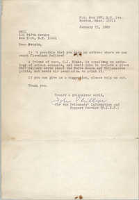 Letter from John Phillips to Student Nonviolent Coordinating Committee, January 21, 1969