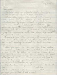 Letter from Cleveland Sellers to Pauline Taggert Sellers, August 14, 1968