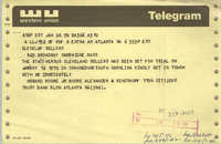 Telegram from Howard Moore, Jr. to Cleveland Sellers, January 6, 1970