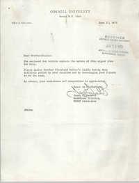 Letter from James B. Garnett, June 11, 1973