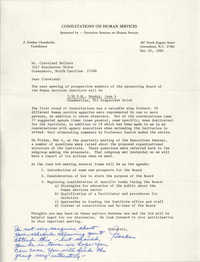 Letter from J. Gordon Chamberlin to Cleveland Sellers, May 24, 1984