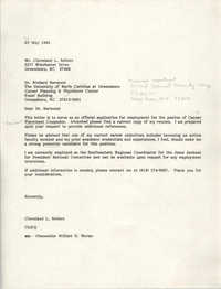 Letter from Cleveland Sellers to Richard Harwood, May 30, 1984