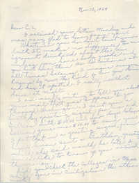 Letter from Pauline Taggert Sellers to Cleveland Sellers, November 12, 1964