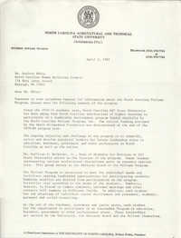 Letter from Cleveland Sellers to Desiree White, April 5, 1982