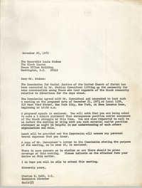 Letter from Charles E. Cobb, November 20, 1972