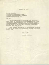 Letter from Cleveland Sellers to John W. Kennedy, September 29, 1971