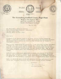 Letter from Cleveland Sellers to Henry McKoy, May 24, 1979