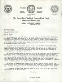Letter from Cleveland Sellers to Bernice Smith, November 26, 1979
