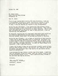 Letter from Cleveland Sellers to Albert Smith, October 26, 1988