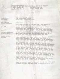 Letter from Howard Moore, Jr. to John Wesley Battiste, June 6, 1969