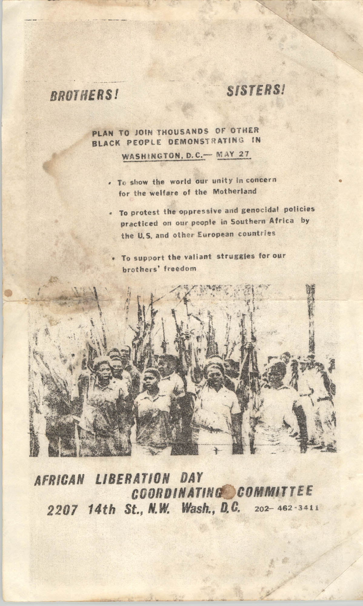 African Liberation Day 1972 Flyer