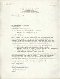Letter from Fred Henderson Moore to Cleveland Sellers, February 12, 1970