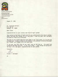 Letter from Elaine T. Ostrowski to Cleveland Sellers, August 17, 1993