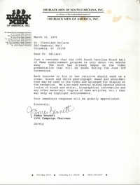 Letter from James Bennett to Cleveland Sellers, March 30, 1995