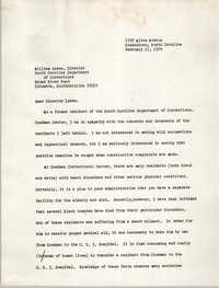 Letter from Cleveland Sellers to William Leeke, February 11, 1974