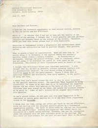 Letter from Cleveland Sellers to Goodman Correctional Institute, June 13, 1973