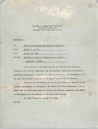 Malcolm X Liberation University Memorandum, August 29, 1969