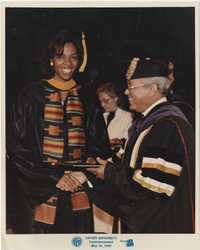Photograph of Young Woman Graduating from Xavier University