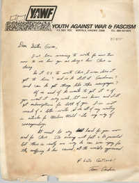 Letter from Tom Gardner to Gwendolyn Sellers, March 18, 1975